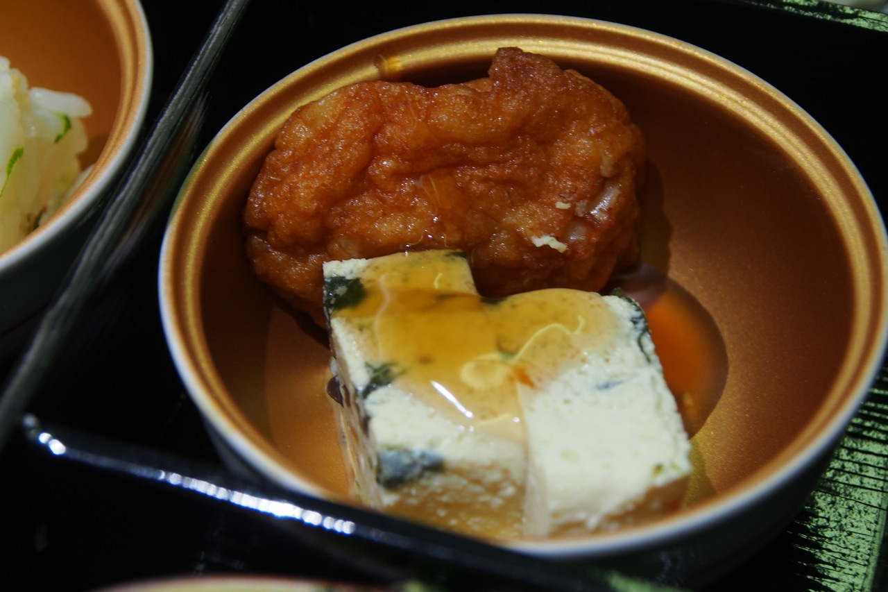 宮崎: 擬製豆腐と 軟骨薩摩揚げ Tofu Vegetable Cake & Deep-fried Fish Cake