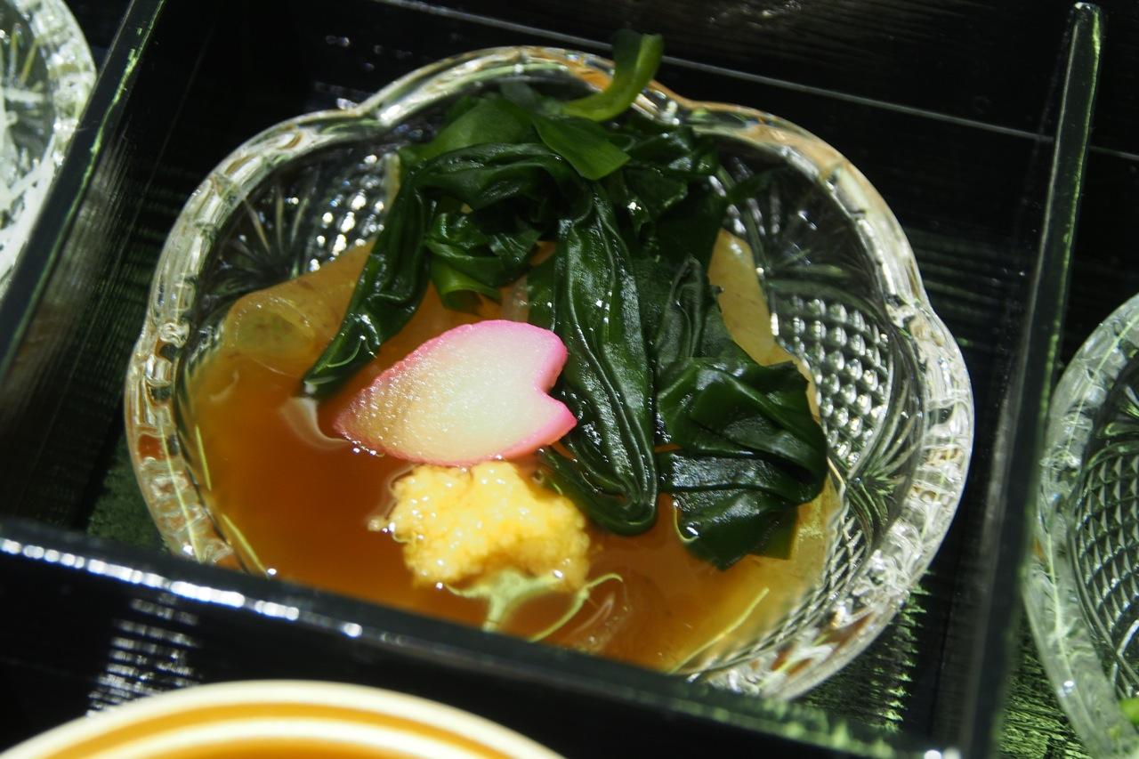 福岡: おきゅうと 生姜醤油餡 Seaweed Jelly with Ginger Soy Sauce