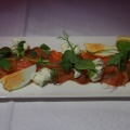 Cured Salmon with Caper Berries and Egg