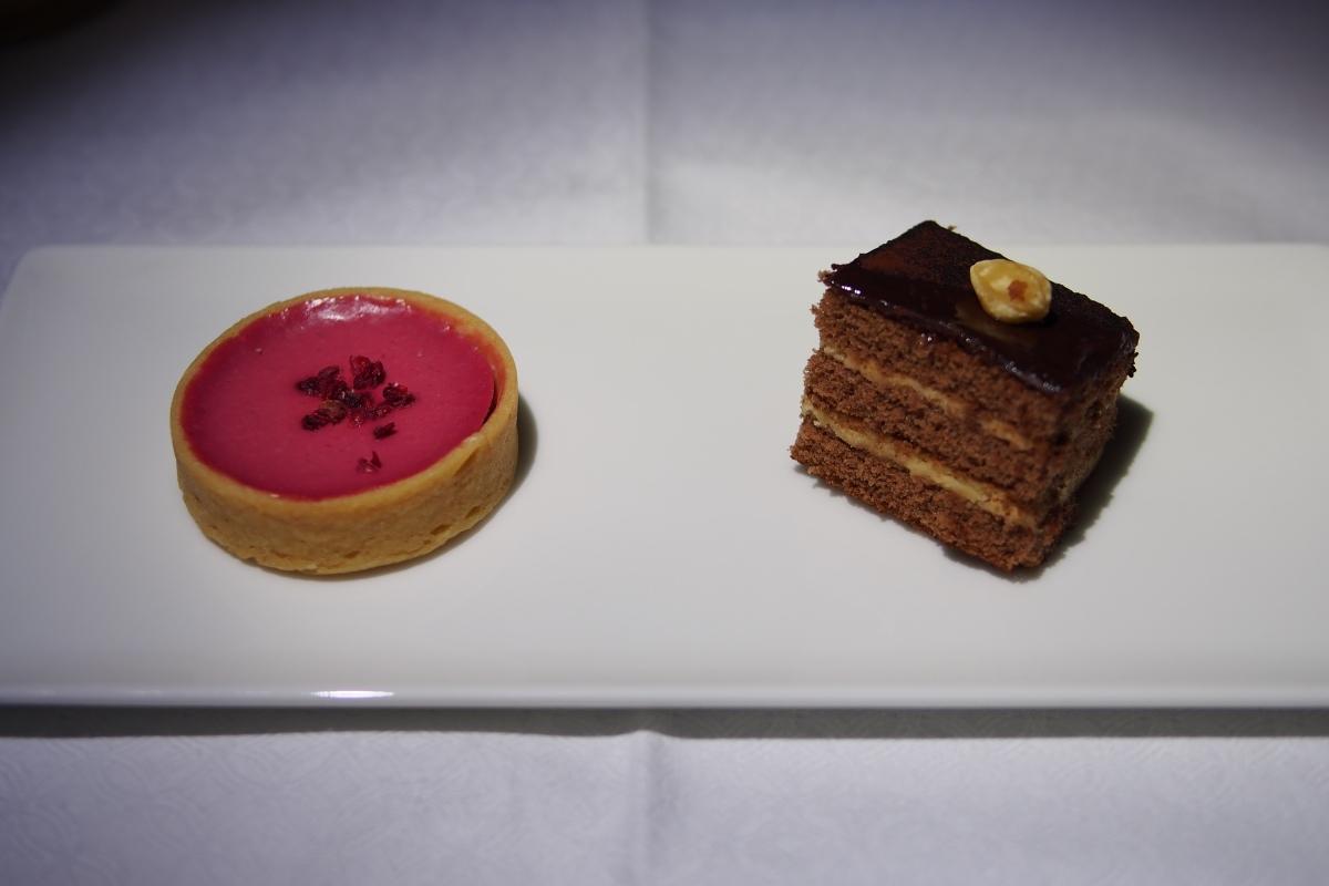 Selection of indulgent individual desserts