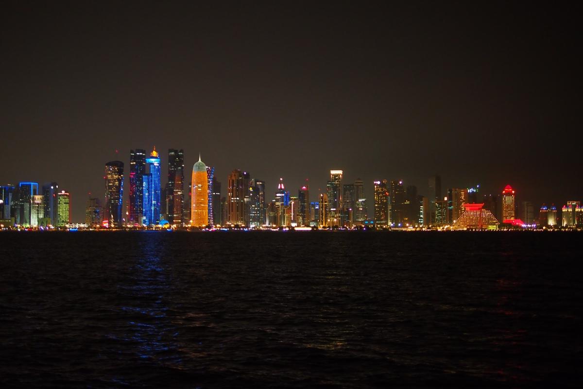 多哈的夜景