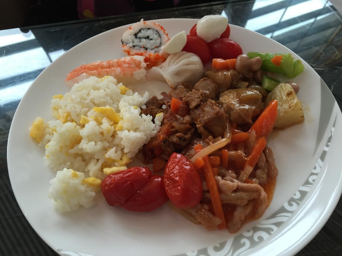 午餐餸菜之部份